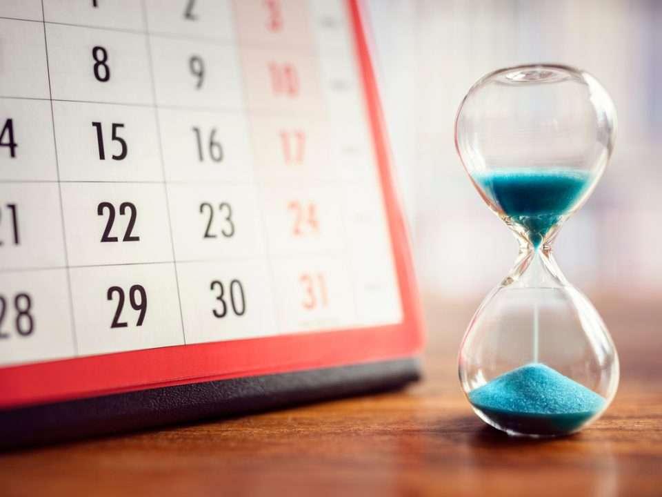 scadenza calendario clessidra